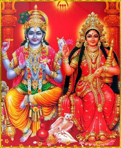 Always use picture in which Lakshmi Ji is sitting