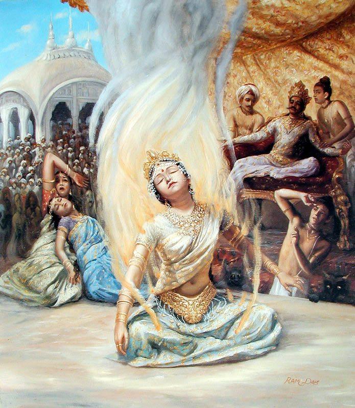 Mata Sati Burning Herself