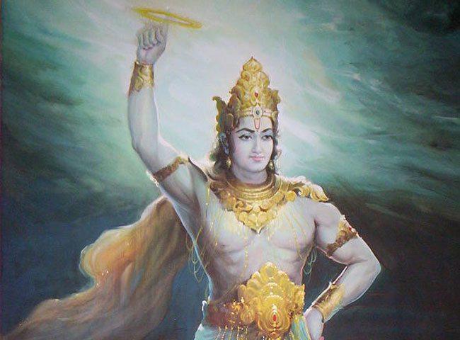 Lord Vishnu and his Sudarshan Chakra