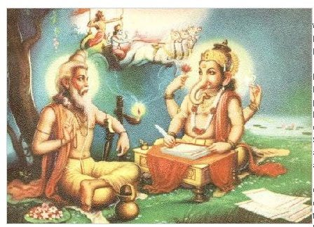 ganesha writing mahabharata and ved vyas