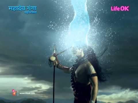 shiva recieving ganga in his hairs