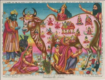 vishwa-rajlakshmi-gaumata-the-holy-cow-mother-lithograph-print-kansaripara-art-studio
