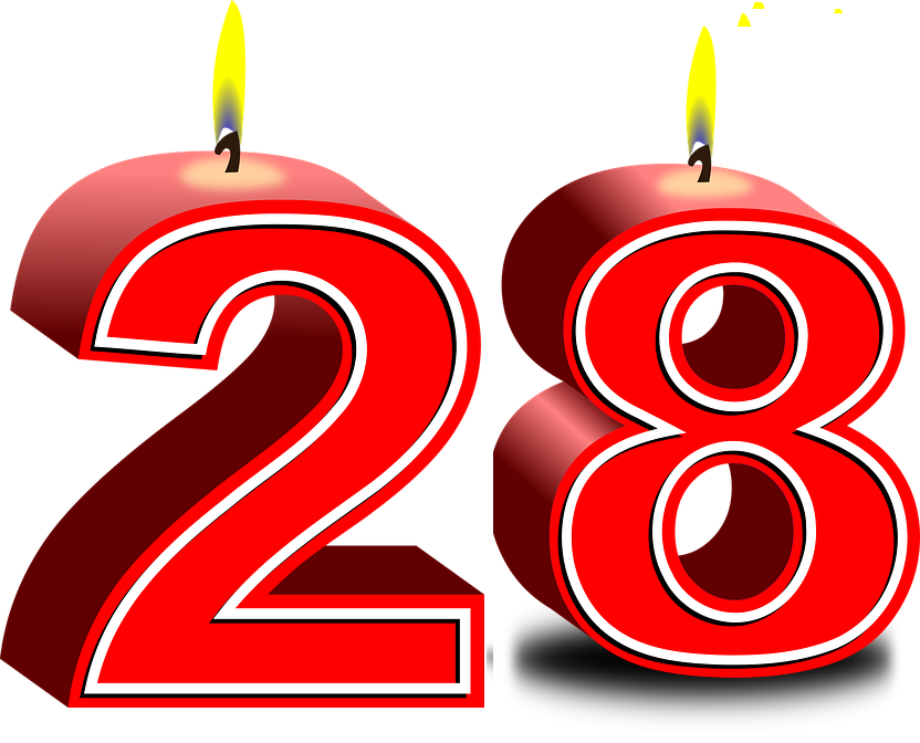 28 birthday number 28