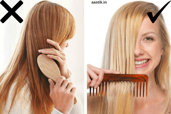 combing-or-brushing-hair-for-clean-hair-growth